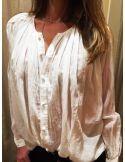 Laurence Bras chemise cigar voile de coton plissée blanche