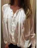 Laurence Bras chemise cigar voile de coton plissée corde