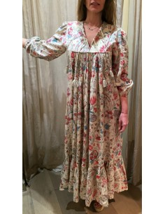 Laurence Bras Robe longue ROBE INDIENNE coton chintz