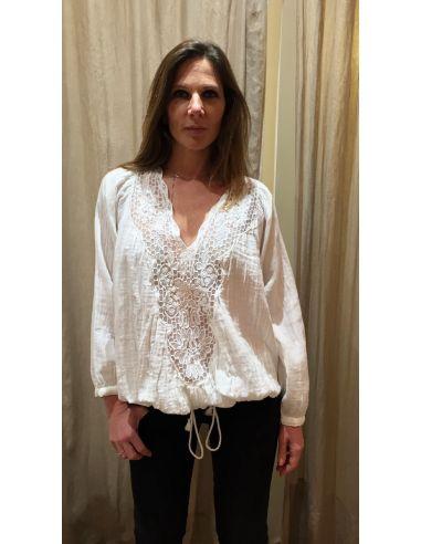 My Sunday Morning blouse Joyce white cotton