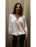My Sunday Morning Chemise blouse JOYCE blanche coton