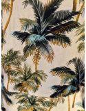 My Sunday Morning MSM Robe LOREEN viscose imprimé hideway ( palmier)