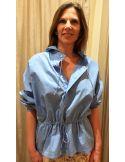Laurence Bras chemise WOOD bleu ciel ou blanche