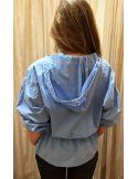 Laurence Bras shirt WOOD light blue