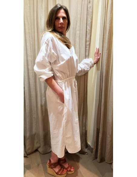Laurence Bras Robe longue BALLADE blanche