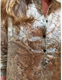 Laurence Bras chemise bicycle coton & soie paisley noir