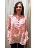 Laurence Bras shirt bicycle cotton & silk paisley BLACK