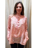 Laurence Bras chemise bicycle coton & soie paisley rouge