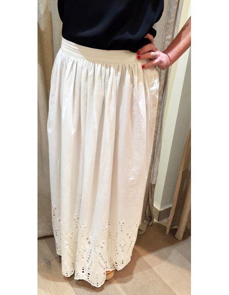 My Sunday Morning MSM JADE skirt white cotton
