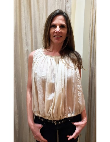 Laurence Bras shirt OPERA cotton&silk nude pink