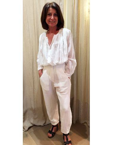 Laurence Bras pantalon PENCIL blanc ou corde