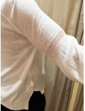 Teoh&Lea pull viscose & linen white