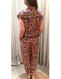 Teoh&Lea Combi pantalon imprimé ercu terre & orange