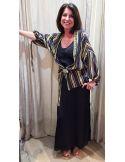 Teoh&Lea jacket kimono black & gold
