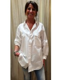 Laurence Bras shirt EYES oversize white
