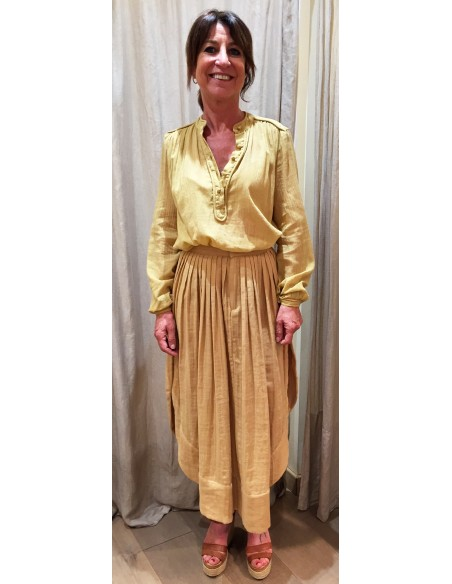 Laurence Bras long skirt TABLE new wheat