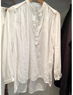 Laurence Bras chemise cycle voile de coton blanche