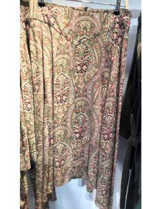 Laurence Bras long skirt SWAN green Kasmir print