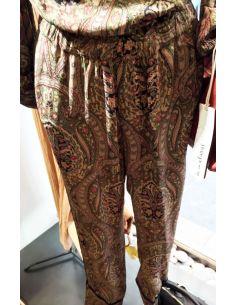 Laurence Bras pantalon GROUNDED vert imprimé kasmir