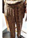 Laurence Bras GROUNDED pants green Kasmir print