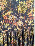 Laurence Bras Jupe longue asymétrique PEACH noir imprimé forest