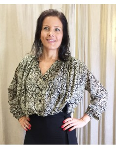 Laurence Bras chemise cigar voile de coton plissée gauguin