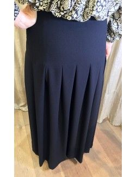 Laurence Bras jupe très longue plissée RAYS noire