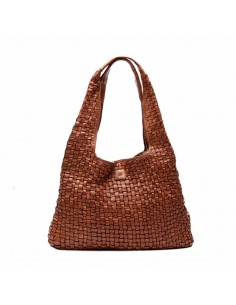 BIBA  braided big bag Kansas KA15 noir ou cognac