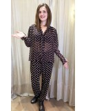 Laurence Bras large shirt STONE brown ivory dots