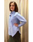 Laurence Bras shirt COSTES oversize bleu melange