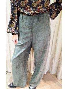 Laurence Bras pantalon velours STATUE vert kaki
