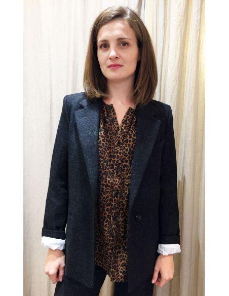 Laurence Bras veste blazer ROUE wool charcoal