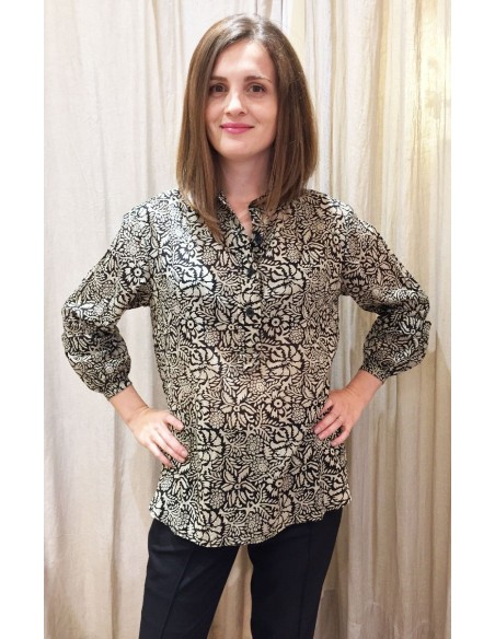 Laurence Bras shirt ROMY cotton  gauguin print
