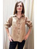 Laurence Bras large shirt MILAN cotton beige