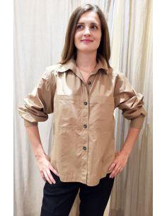 Laurence Bras chemise ample MILAN popeline beige