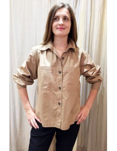 Laurence Bras large shirt MILAN cotton beige