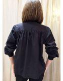 Laurence Bras chemise ample MILAN popeline noire