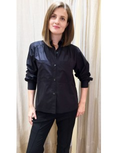 Laurence Bras large shirt MILAN cotton black
