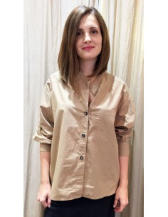 Laurence Bras large shirt DIVISION cotton beige