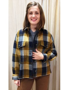 Laurence Bras shirt ALLEN BIS wool yellow check