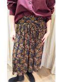 Laurence Bras asymetric skirt PEACH black forest print