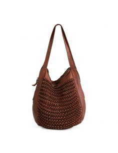 BIBA braided bag MISSOURI MSS1L black or cognac