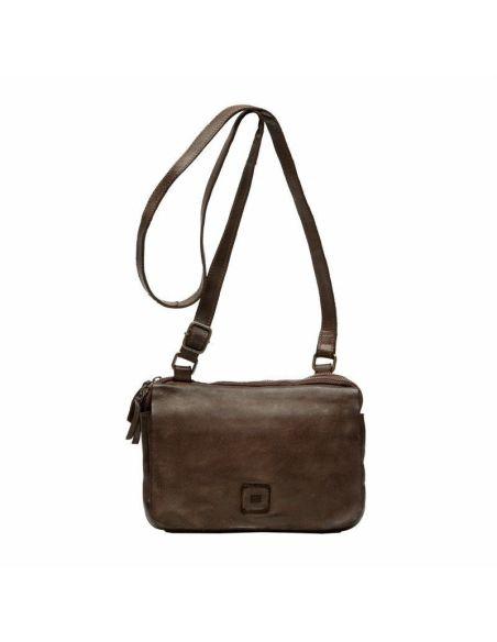 BIBA sac cuir vintage BOSTON BT15 marron noir naturel-beige ou cognac