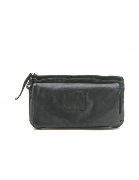 BIBA portefeuille cuir vintage KANSAS KA4 noir cognac rouge ou cognac