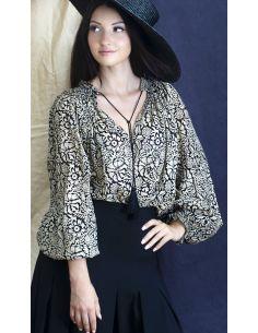 Laurence Bras chemise SHAHI voile de coton plissée gauguin