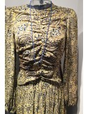 Laurence Bras long dress BUISSON paisley yellow