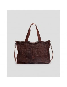 BIBA braided big bag  Sterling STEL1L natural or cognac