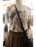 Laurence Bras Tshirt Tie&Die  GRENADE cotton beige