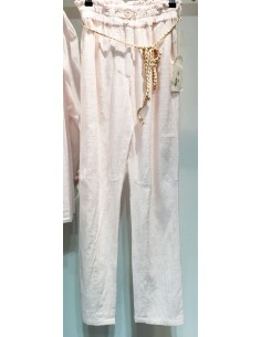 My Sunday Morning pantalon marlow rose pale coton