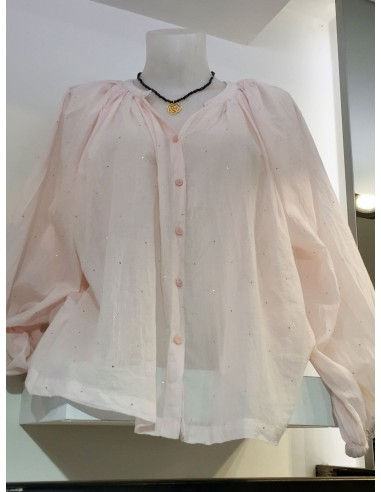 My Sunday Morning Chemise SYLVIA  voile de  coton rose pale